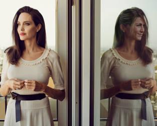 Angelina Jolie - Jennifer Aniston FaceOff by jmurdoch