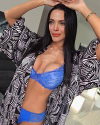Angelina Jolie - Blue bikini by jmurdoch