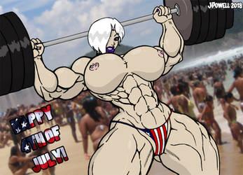 Independence Day Nude Gunshow by RandomReduX