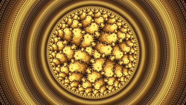 Mandelbrot Deep Julia Morphing 22 (Golden Sphere)