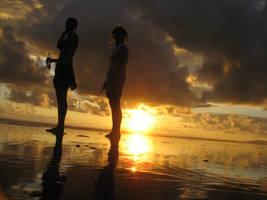 Sunset girls by NaturalBornCamper