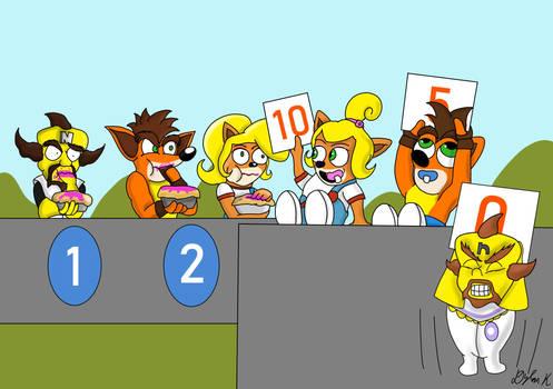 Wumpa Pie Eating Contest