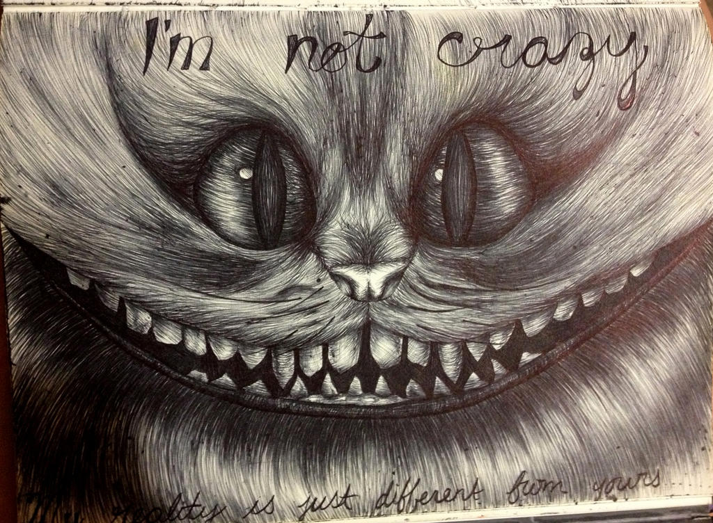 how to draw the cat off of alice in wonderland