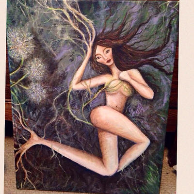 Dandelion Dryad by taraozella