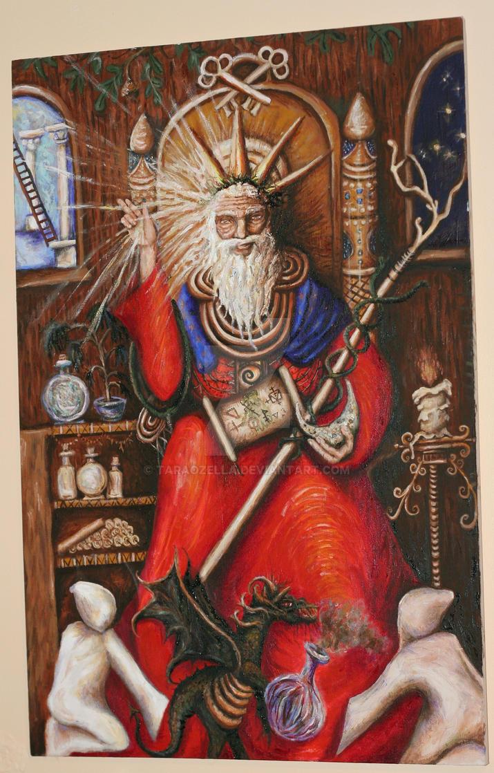 the Hierophant tarot card by taraozella