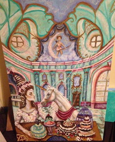 A Lady and a Unicorn by taraozella