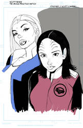Alara Kitan and Kelly Practice Sketch by wetvenom