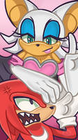 Knuckles and Rouge bookmark