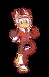 Telopea Sonic riders-style by Skinny-Alien-Cake