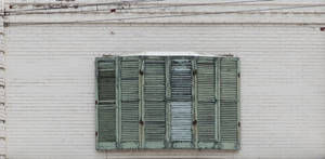 Aged window shutters