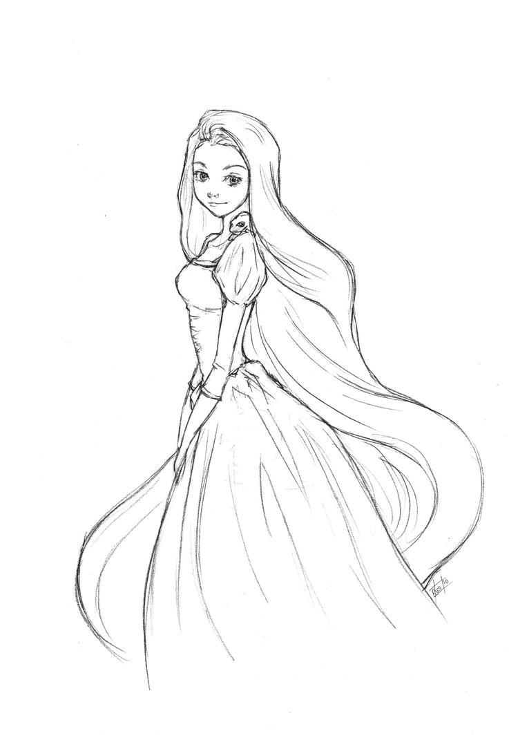 rapunzel sketch by ricochet