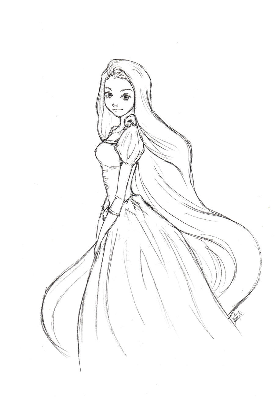 Easy Drawings Of Disney Princesses