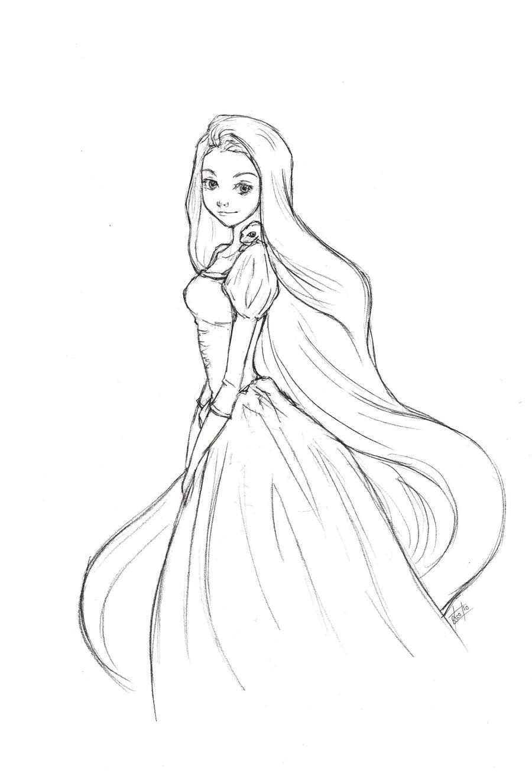 Disney Princess Rapunzel Drawing | Car Interior Design