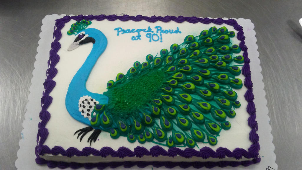 peacock cake by PlayerNamedQuix