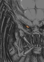 Predator Sketch by daemonstar