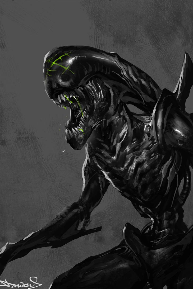 Xenomorph. RIP H.R.Giger by daemonstar