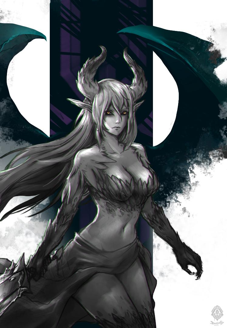 Demongirl by daemonstar