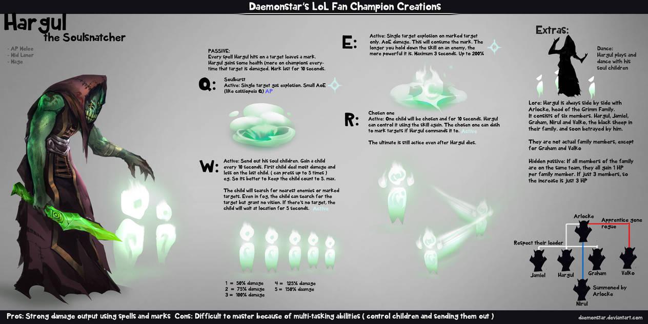 LoL Fan Champion Creations :Hargul by daemonstar
