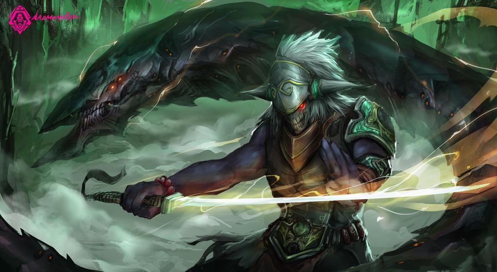 Jade&Dragon by daemonstar
