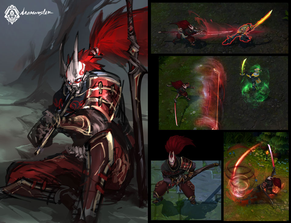 Bloodmoon Yasuo Skin Idea by daemonstar