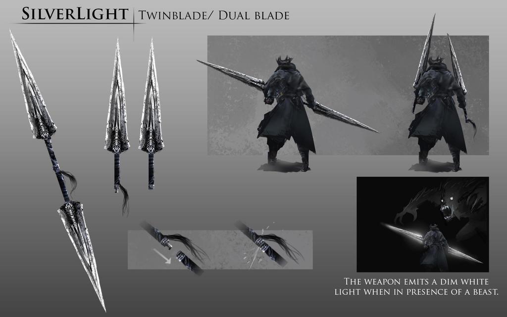 Bloodborne Fanart - Silverlight weapon idea by daemonstar