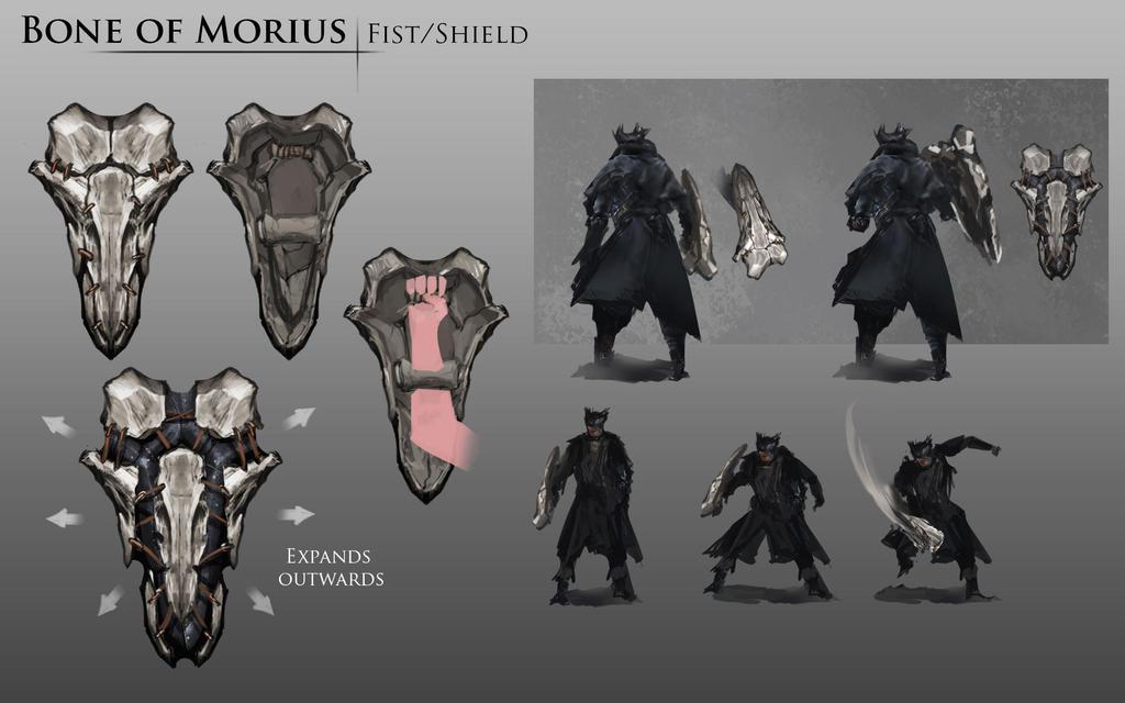 Bloodborne Fanart - Bone of Morius weapon idea by daemonstar