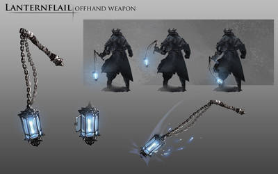 Bloodborne Fanart - Lanternflail weapon idea