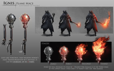 Bloodborne Fanart - Ignis weapon idea