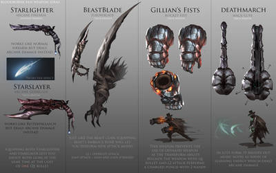 Bloodborne Fanart - Weapon ideas