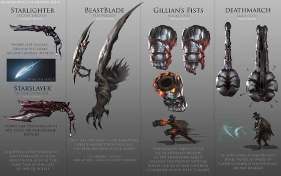 Bloodborne Fanart - Weapon ideas