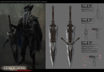 Bloodborne Fanart - Crossbow sword