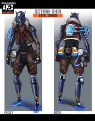 Apex Legends Fan Concept - Octane Steel Demon Skin