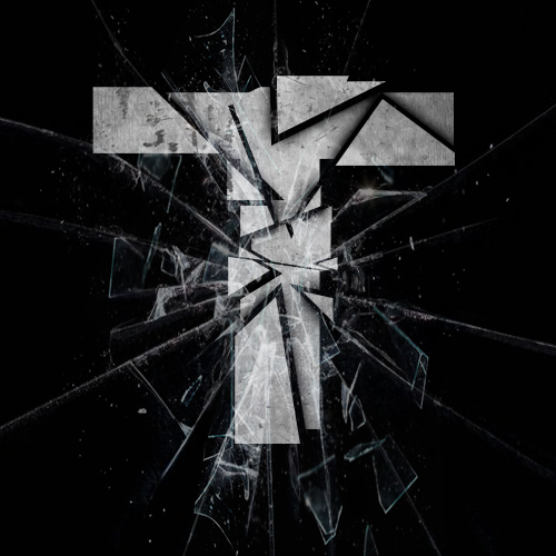 Shattered Glass Effect T by xXxDragonSlayer-GFX