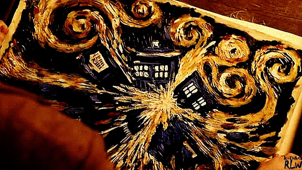 Doctor Who-. TARDIS Van Gogh by Kamikazouille on DeviantArt  Doctor Who-. TA...