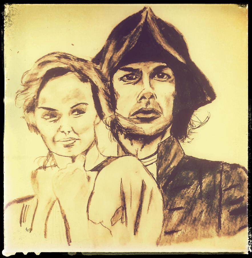 Ross and Demelza Poldark by ThirdEyebaby