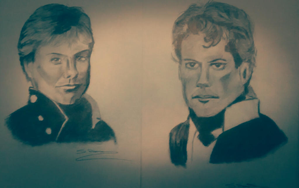 Horatio Hornblower and Archie Kennedy by ThirdEyebaby