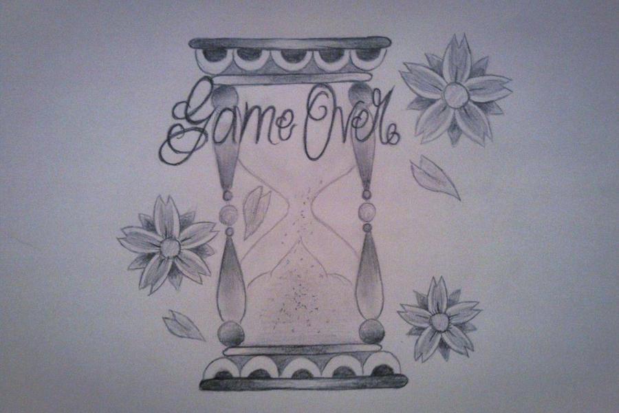 game over tattoo design by iloveink666 on deviantart. Black Bedroom Furniture Sets. Home Design Ideas
