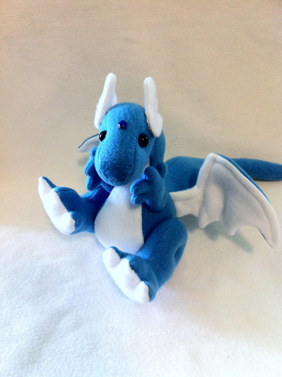 Myth-fit Blue Dragon Poseable Plushie by MythfitCreations