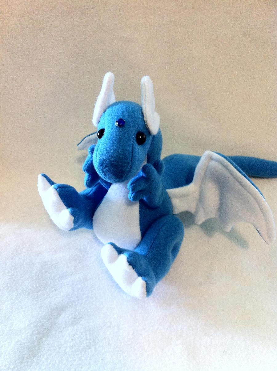 Myth-fit Blue Dragon Poseable Plushie by MythfitCreations