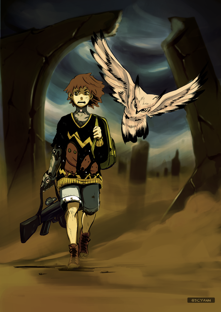 The Child and the Owl by FireDrawing