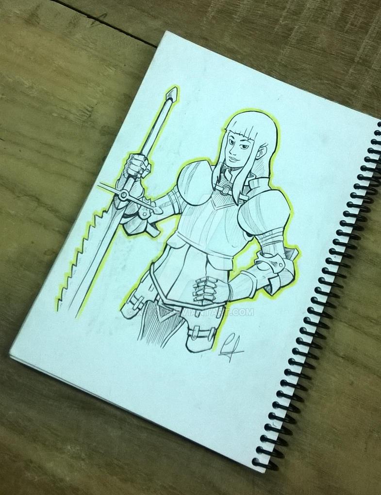 girl warrior by k-yoh