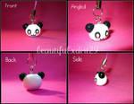 Kawaii Panda Head Phone Charm