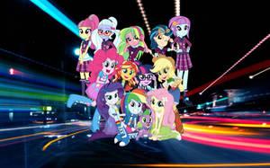 Equestria Girls Friendahip Games Wallpaper by ShadowTheKillerX
