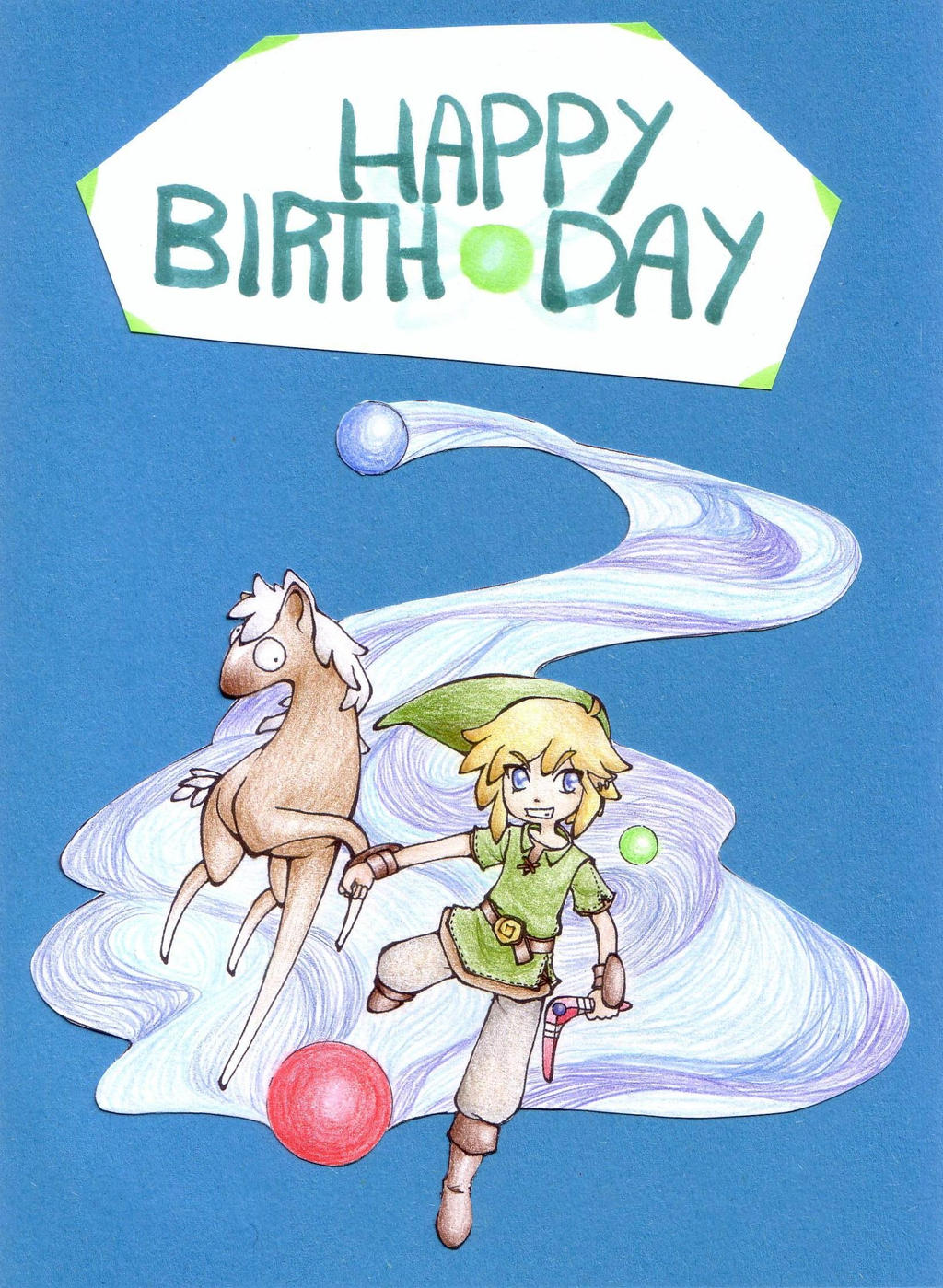 deviantart more like the legend of zelda  birthday card by leoloum, Birthday card