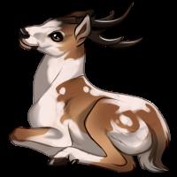 Piebald Deer by Innali