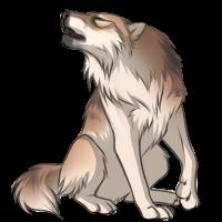 Blonde Wolf by Innali
