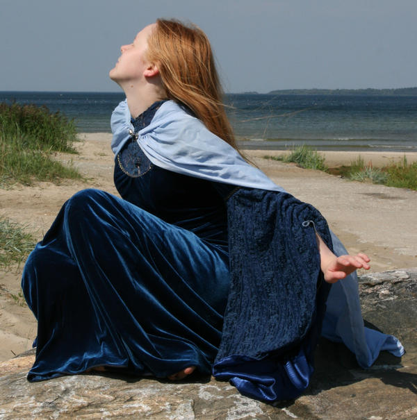 Lady in Blue 14 by Iardacil-stock