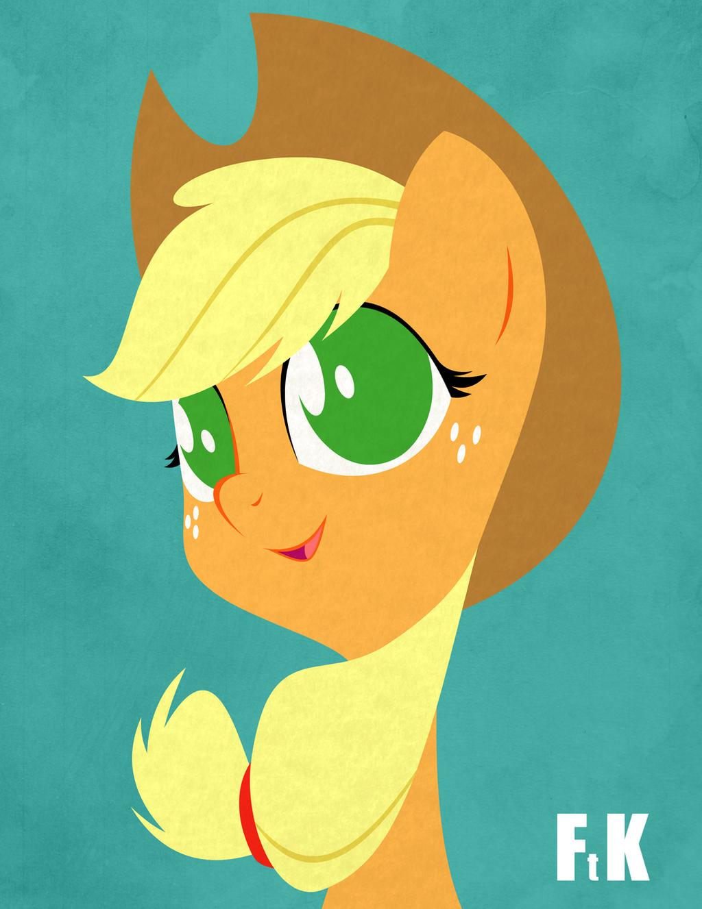 Applejack Portraiture by FluttershytheKind