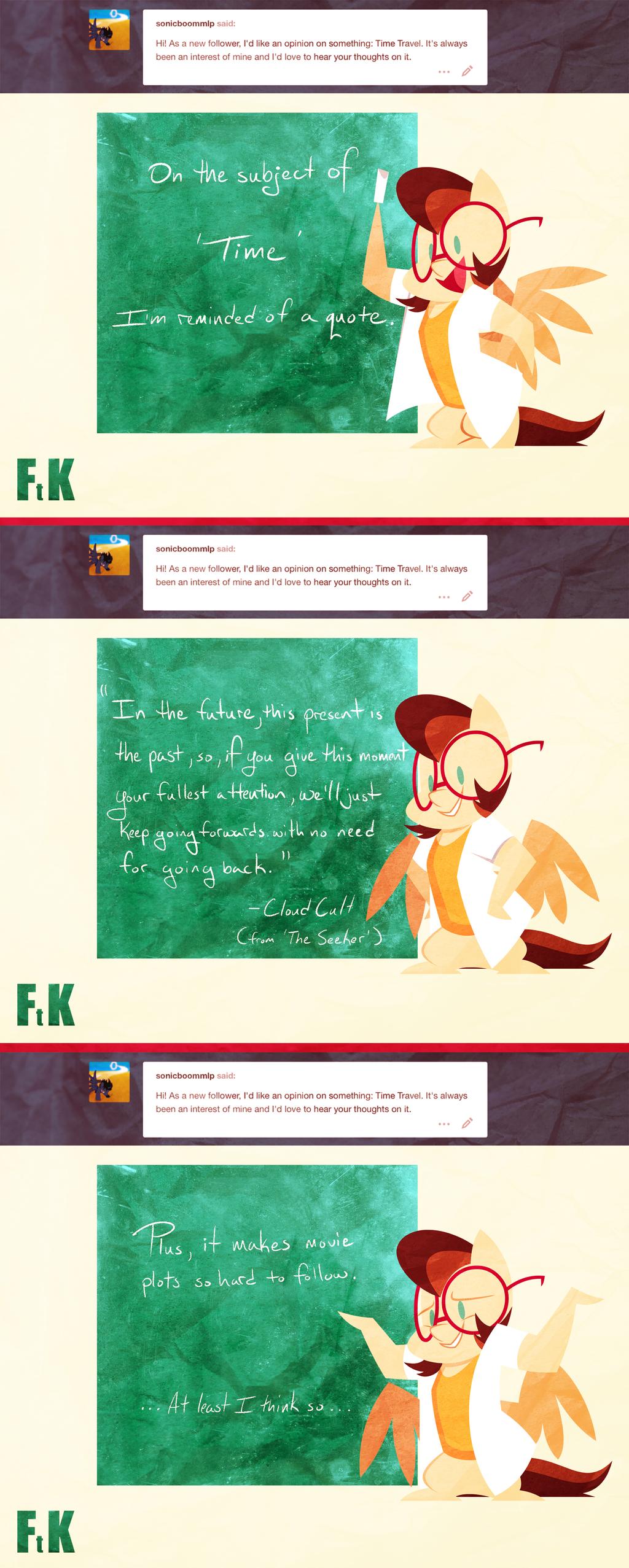 Ask Dr. Pegasus: Time Travel by FluttershytheKind