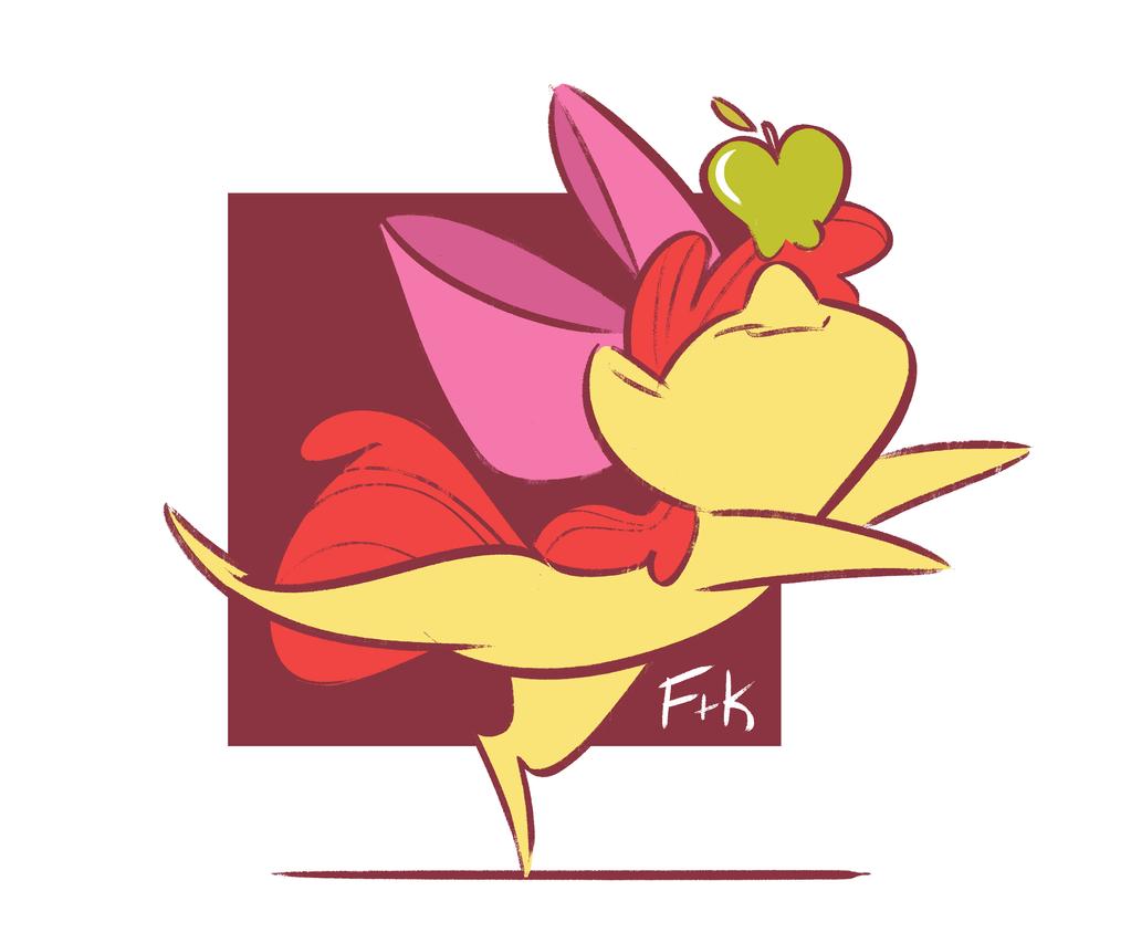 Apple Balancing by FluttershytheKind